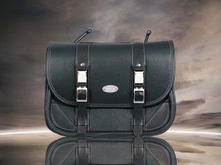 Classic Black Bag Grey Seams - front