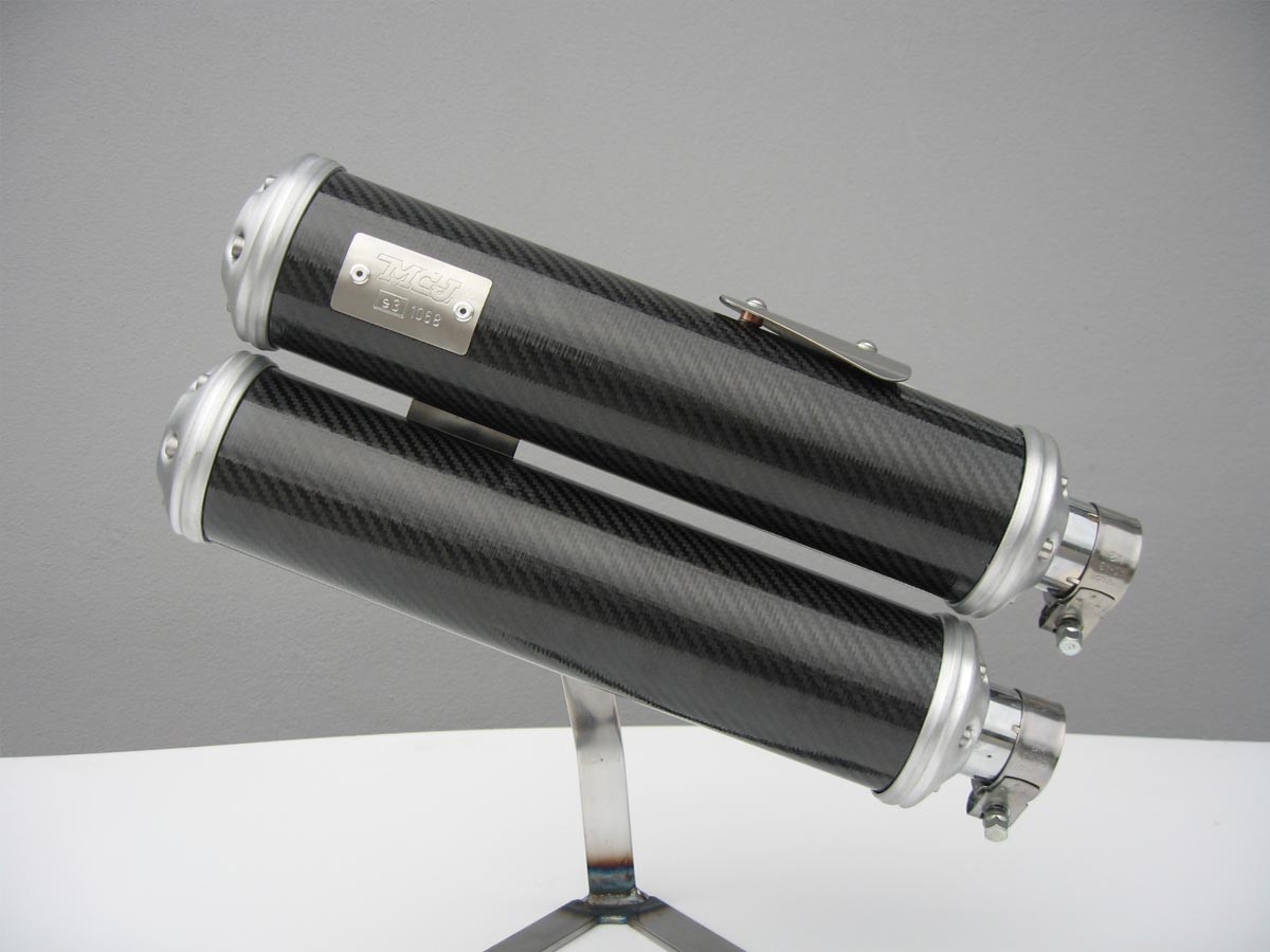 Double carbon mufflers