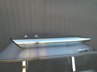 Scarico modello Edizione 100 con taglio a 45° in versione cromata