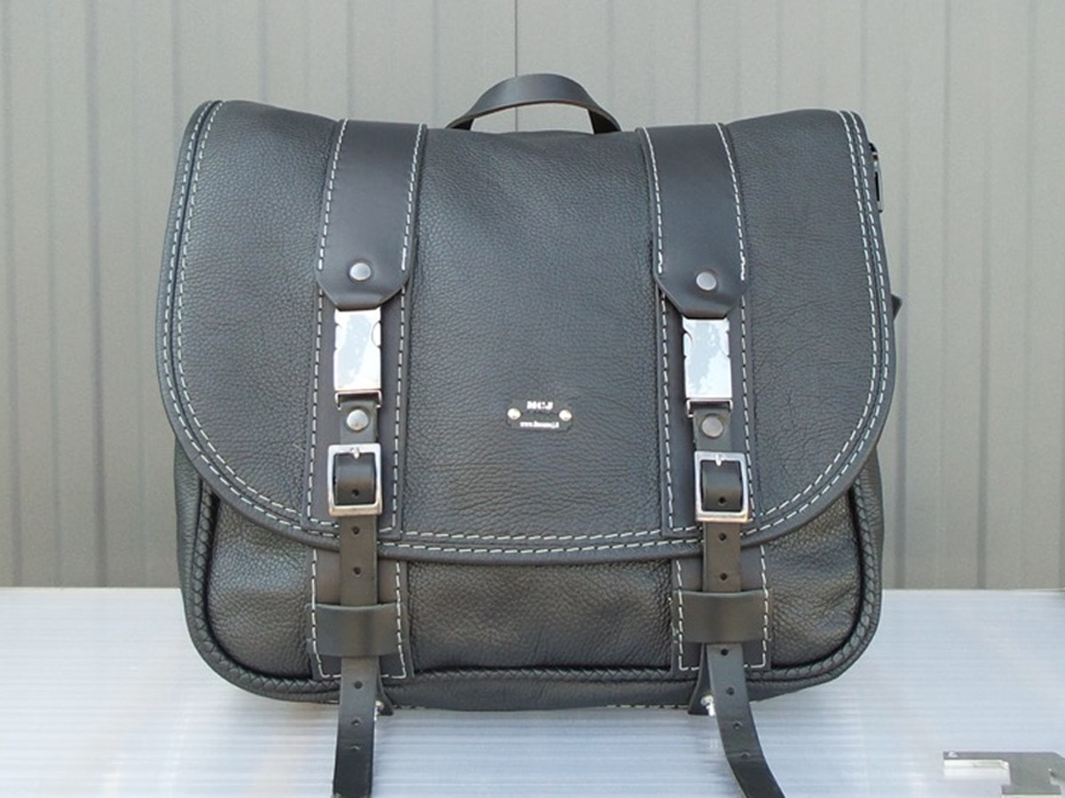 Business Bag in Black leather